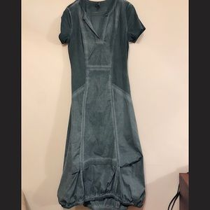 XCVI casual midi poplin dress